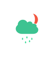 Night rain Icon vector image