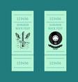 summer rock fest set of tickets on blue-green vector image