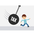 tax liability design vector image