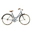 Watercolor bike vector image