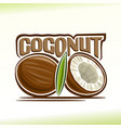 coconut still life vector image