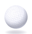 Ball for golf Isolated on white background vector image