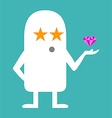 Animated personality STAR vector image