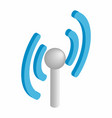 Wireless connection isometric 3d icon vector image