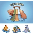aquapark vector image