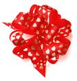 big bow made of ribbon with small hearts vector image