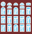 collection of various windows types vector image
