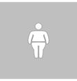 fatty computer symbol vector image