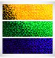 geometric banner brazil flag color vector image