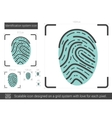Identification system line icon vector image