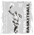 slam dunk basketball player vector image