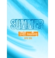 Summer Still Waiting Party Flyer Design vector image
