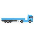 truck semi trailer 02 vector image