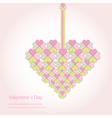Valentine decorative love heart vector image