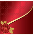 red card with rose vector image vector image