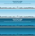 kansas city skyline event banner vector image vector image