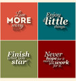 collection of minimalistic typographic vector image