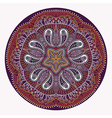 ornamental round lace snowflake vector image