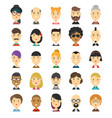 25 flat modern style hipster people vector image