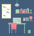 Flat Design Workplace vector image