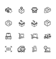 Cargo Icons vector image