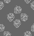Lotus seamless pattern set vector image