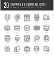 Flat line icons set Trendy Modern thin linear vector image