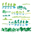 Sketch of nature landscape vector image vector image