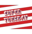Super Tuesday Election Day in USA vector image