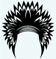 Native american indian headdress vector image