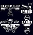 barber shop badges set barbers hand lettering vector image