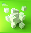 business icons and cubes background vector image