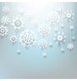 Christmas design with snowflakes EPS 10 vector image