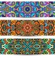Festive Ornamental banner Ethnic tribal Set vector image