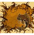 Grunge japanese background vector image