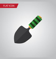 isolated dig flat icon trowel element can vector image