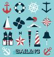 Sailing Icons and Symbols vector image