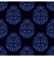 Seamless pattern from eggs with blue floral vector image