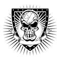volleyball skull shield vector image