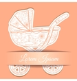 Paper background with baby carriage vector image