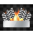 Background with checkered flags vector image