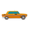 Taxi old car flat design vector image