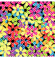 Dotted flowers background vector image