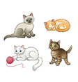 Set of pretty kittens EPS10 vector image vector image