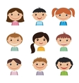 Set of smiling kids vector image