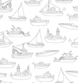 seamless pencil nautical pattern vector image