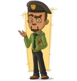 Cartoon man with handgun and holster vector image