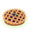 comic style hot freshly baked blueberry fruit vector image
