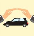 concept of insurance and protection security vector image