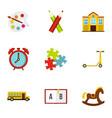 education icons set flat style vector image